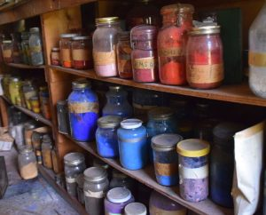 Abby's studio - pigments